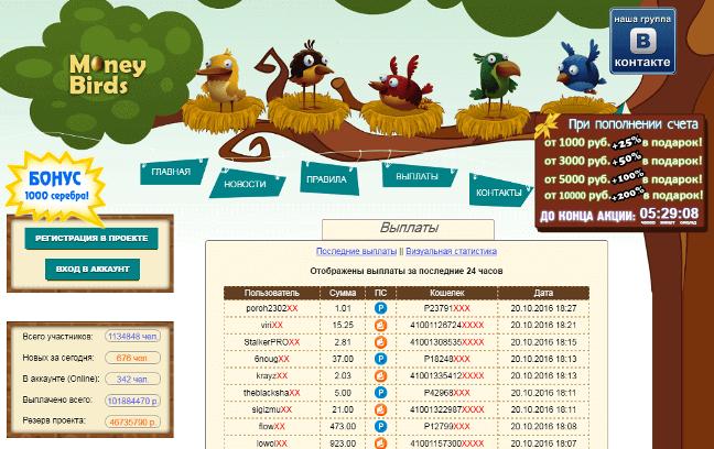Онлайн игра Rich Birds