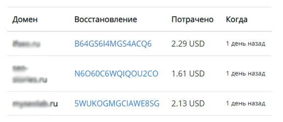 цены на восстановление сайтов из вебархива