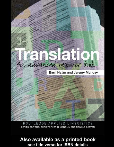 Обложка книги Translation: An Advanced Resource Book