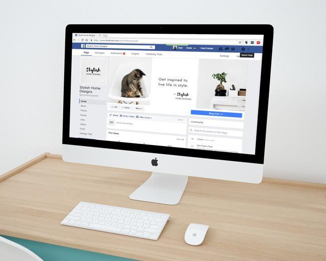 Дизайн сайта фейсбук
