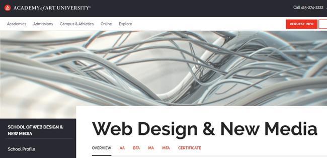 Курс по веб дизайну в Academy of Art University